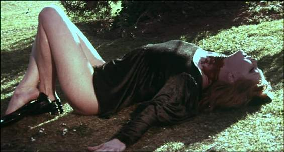 A death scene in Mario Bava's Bay of Blood