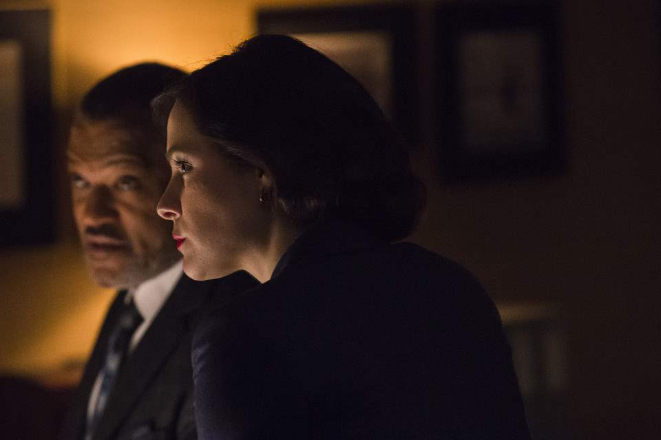 Jack Crawford (Laurence Fishburne) and Alana Bloom (Caroline Dhavernas) in the series finale of Hannibal
