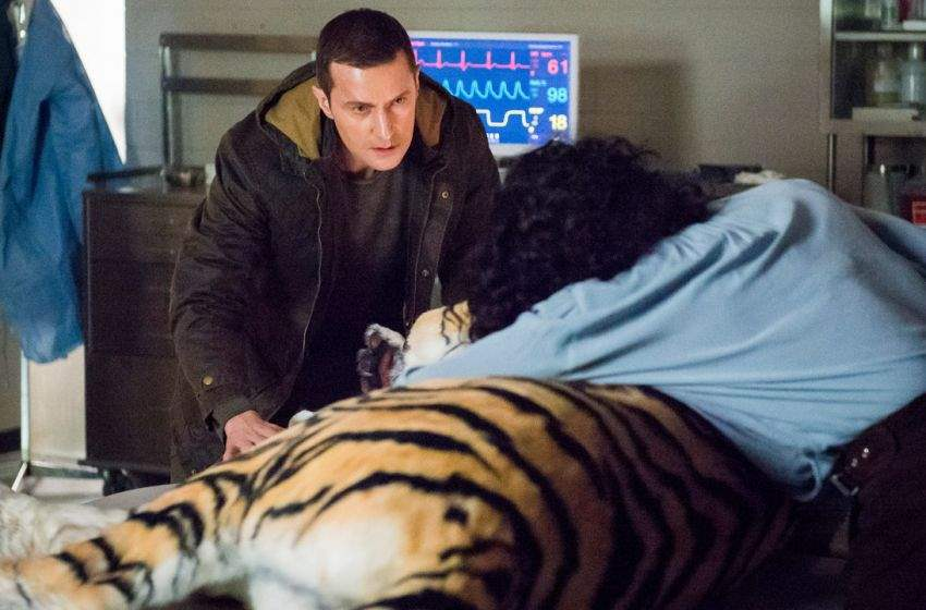 Francis Dolarhyde takes the blind Reba to feel a tiger at the zoo.