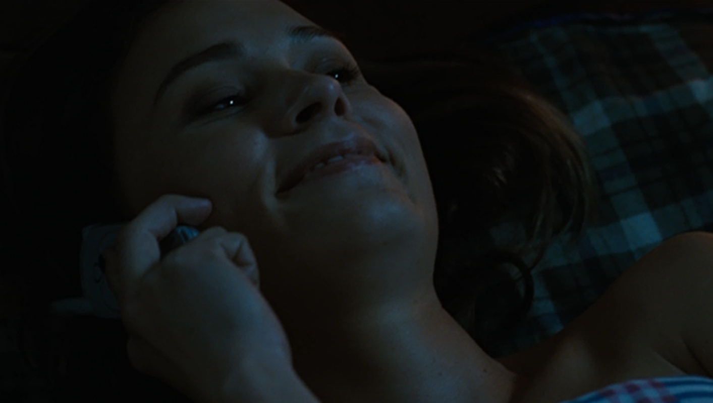 In Rob Zombie's Halloween, Lynda (Kristina Klebe) confides in her friend Laurie on the phone.