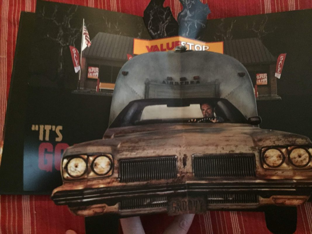An image from the Starz Network Ash vs Evil Dead Popup Book Promo