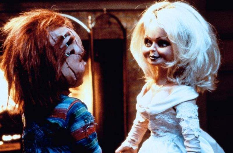 Chucky and Tiffany in Bride of Chucky