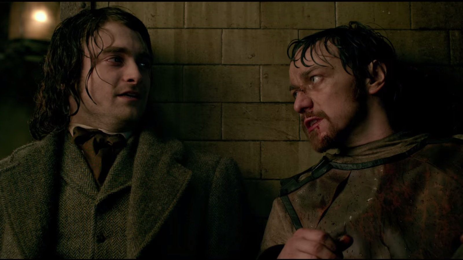James McAvoy and Daniel Radcliffe in Victor Frankenstein