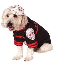 Dress your dog as Jason Voorhees
