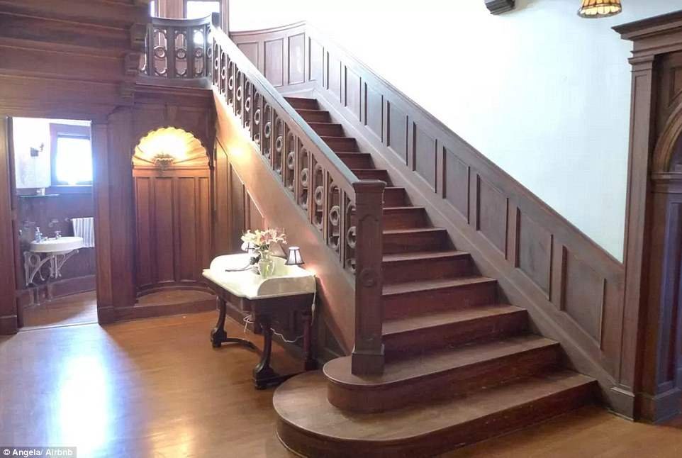 American horror story murder house staircase.