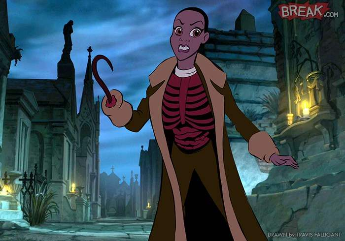 Tiana as the Candyman in Travis Falligants Evil Disney Princesses series.