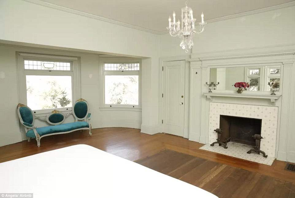 One of the bedrooms in the location for Ryan Murphys American Horror story season one.