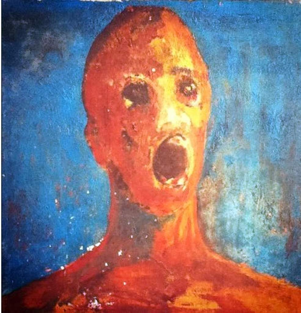 The haunted anguished man painting.