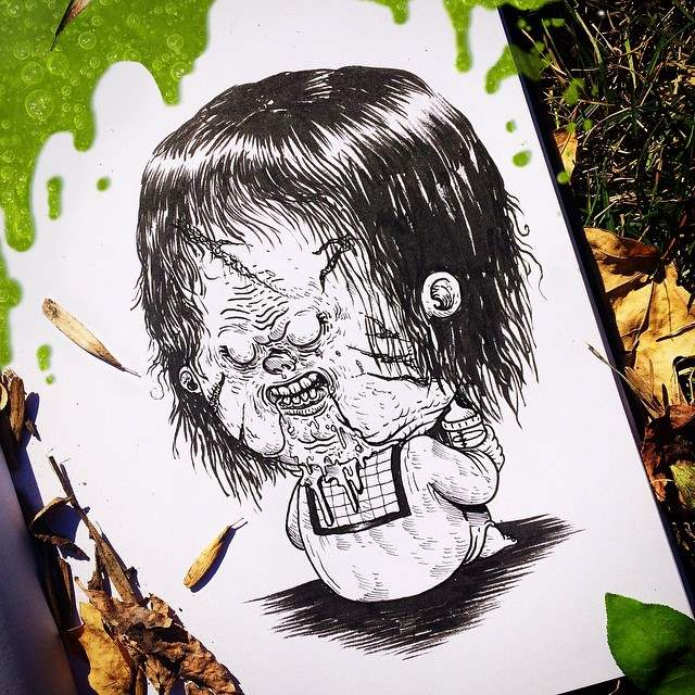 Horror movie icons turned into adorable cute horror movie babies.