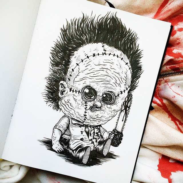 The baby terror illustration series by Alex Solis.