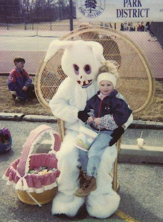Creepy easter bunnies.