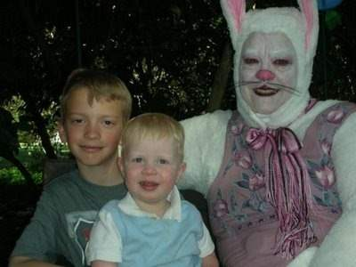 Evil easter bunnies on Resurrection sunday.