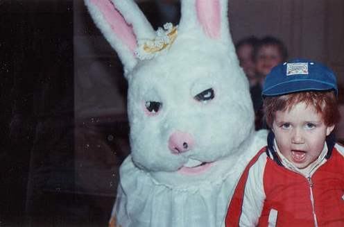 Creepy easter bunny pics.