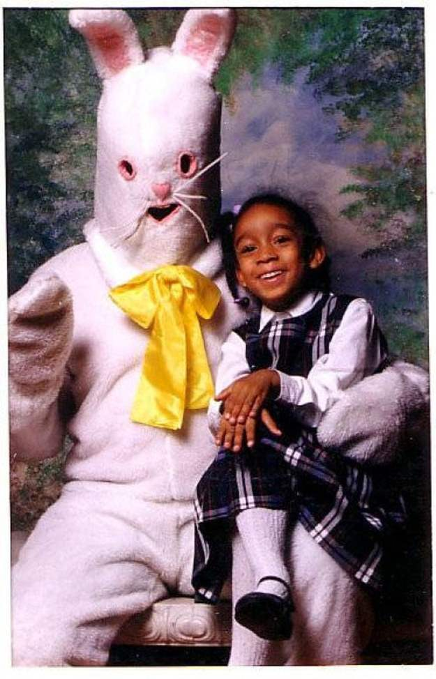 Scary easter bunny photos.
