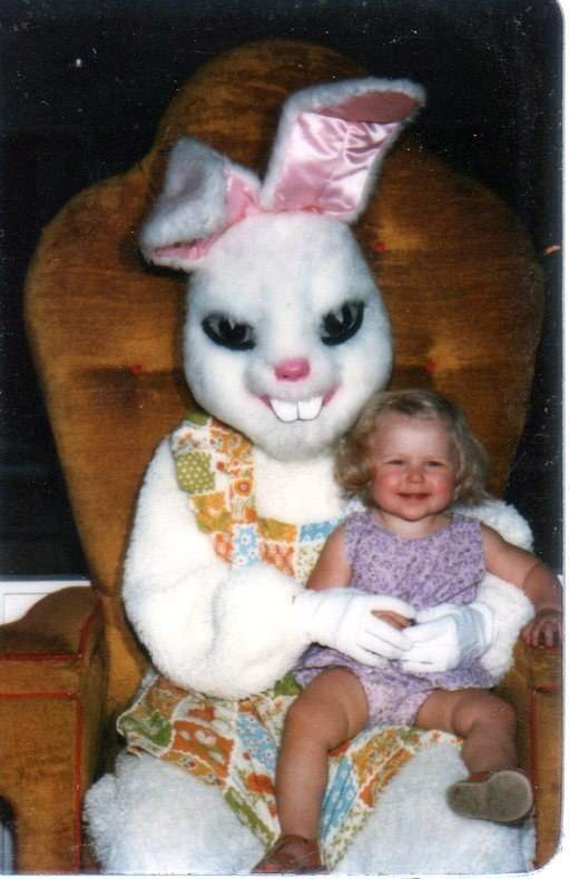Creepy easter bunny photos.