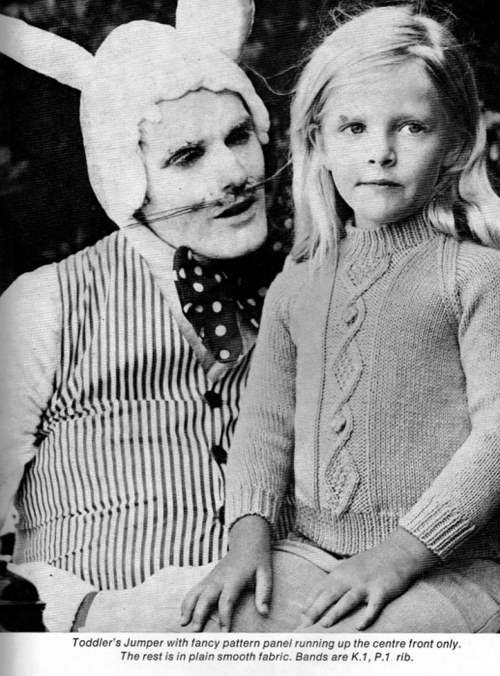 Creepy easter bunny family photos.