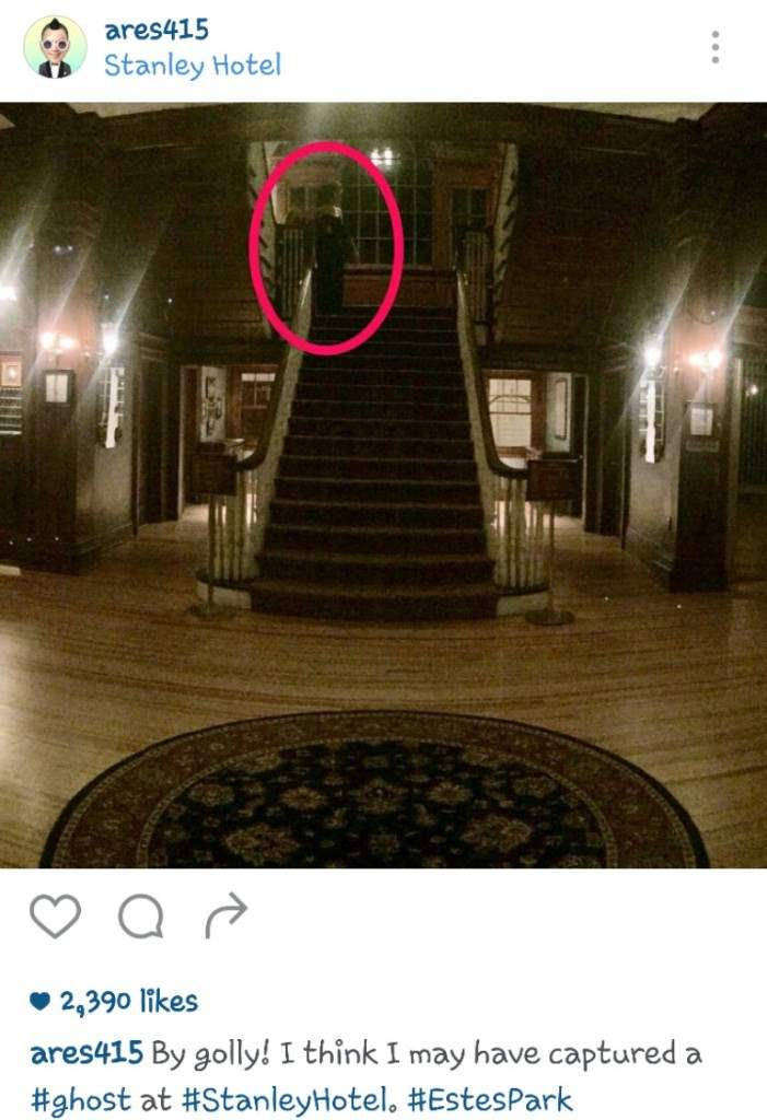 ghost captured at the stanley hotel.
