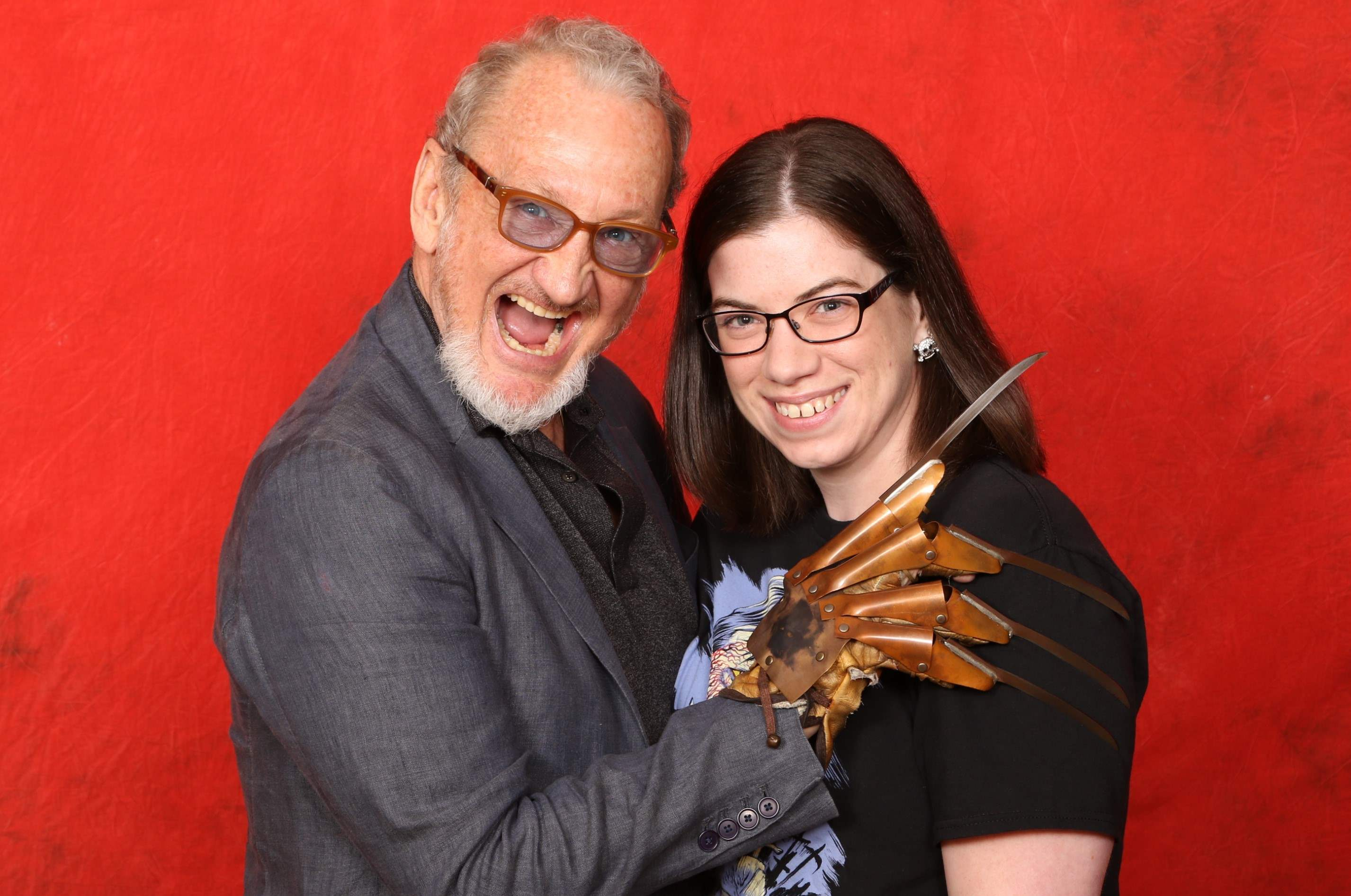 Michele's photo op with Robert Englund at Texas Frightmare Weekend 2016