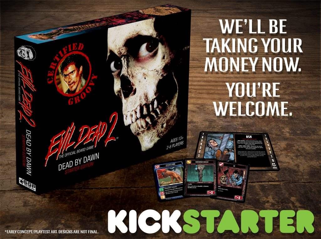 Evil Dead 2 board game art