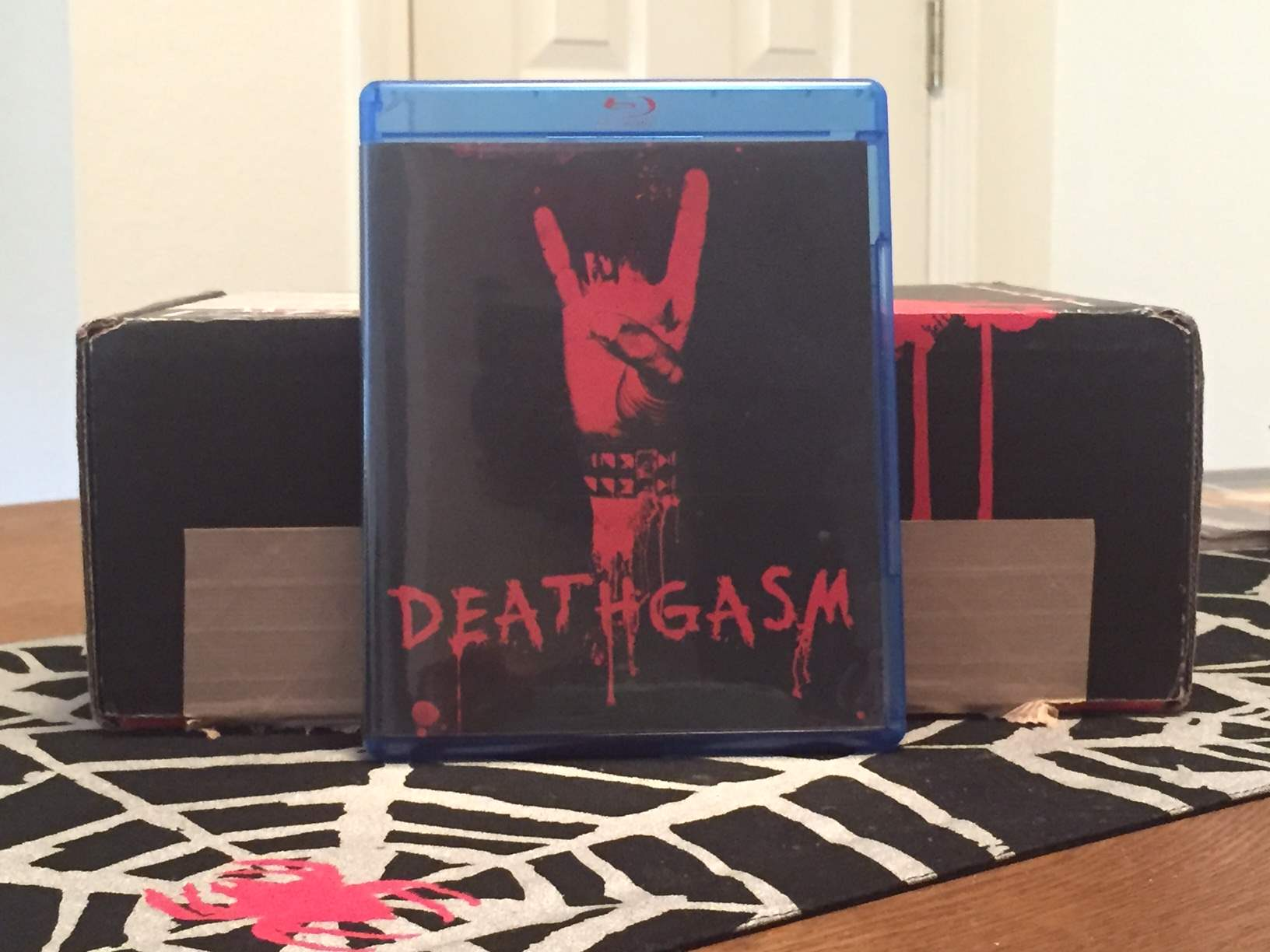 Blu-Ray copy of Deathgasm in the May 2016 Horror Block