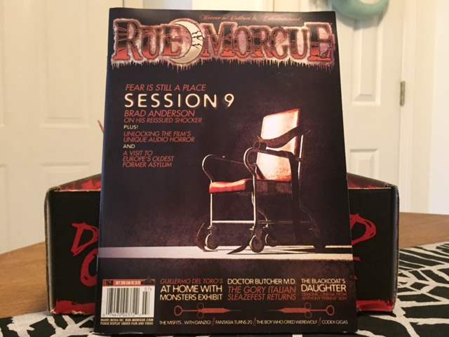 Rue Morgue issue #168 in the June 2016 Horror Block