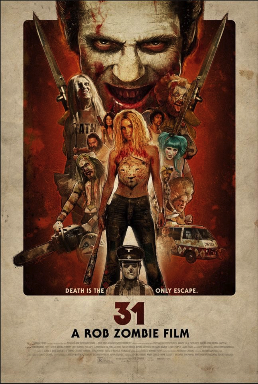 New poster for Rob Zombie's 31