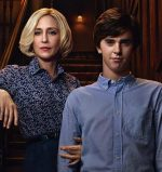 publicity still of Vera Farmiga and Freddie Highmore for Bates Motel