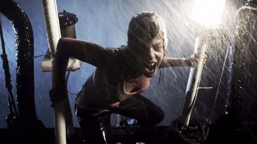 Angela on the rainy boat deck in REC 4: Apocalypse