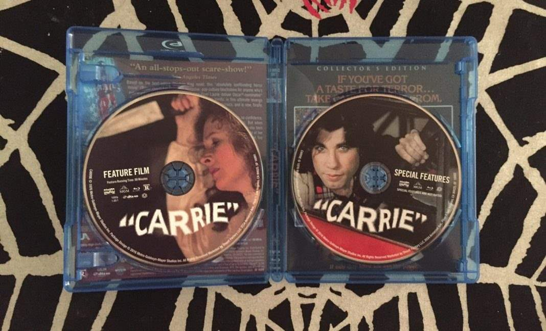 The deluxe edition of Carrie from Scream Factory, opened Blu-Ray