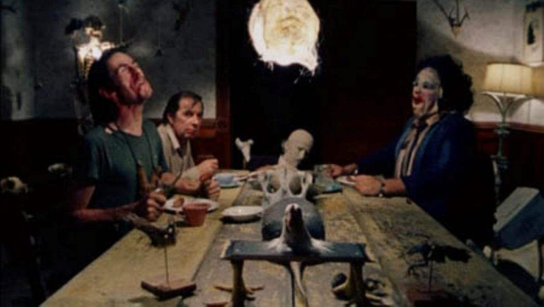 Texas Chainsaw Dinner Scene