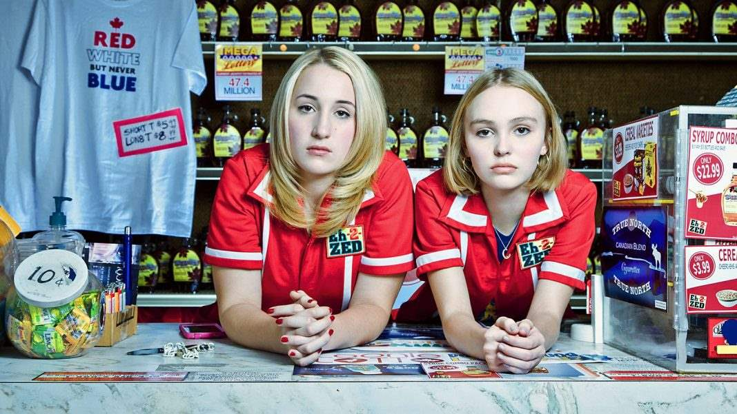 Harley Quinn Smith and Lily Rose Depp in Yoga Hosers