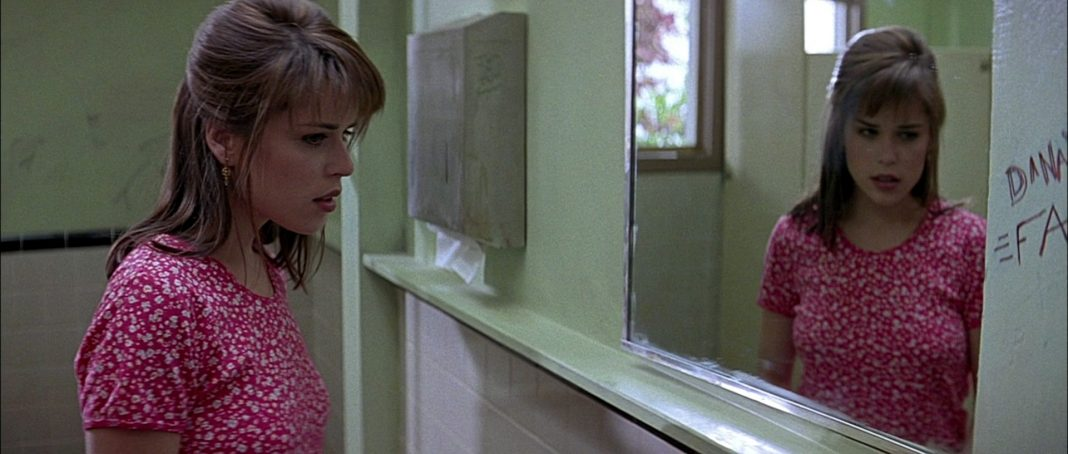 Neve Campbell in Scream school