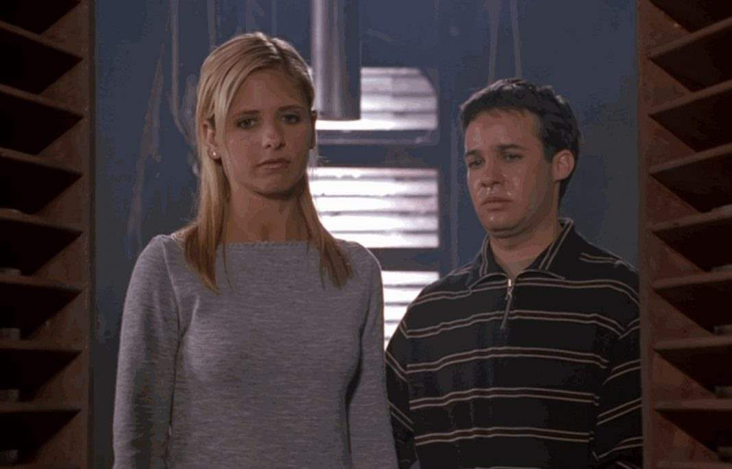 Buffy and Jonathan in the clock tower