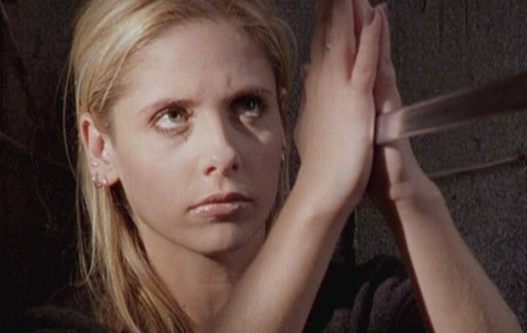 Buffy in her fight against Angelus in Becoming Part 2