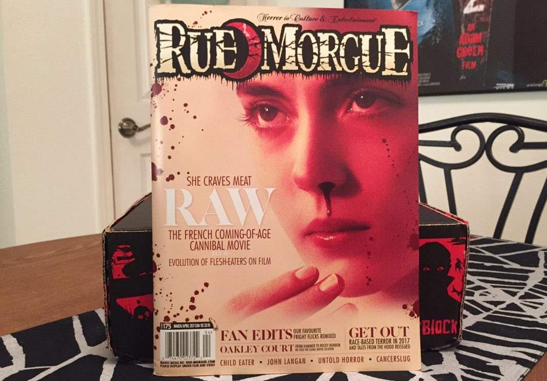 Rue Morgue issue #175 in the February 2017 Horror Block