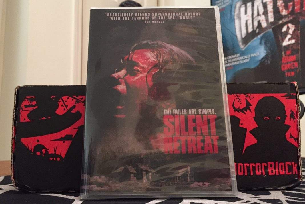 DVD copy of the movie Silent Retreat in the February 2017 Horror Block