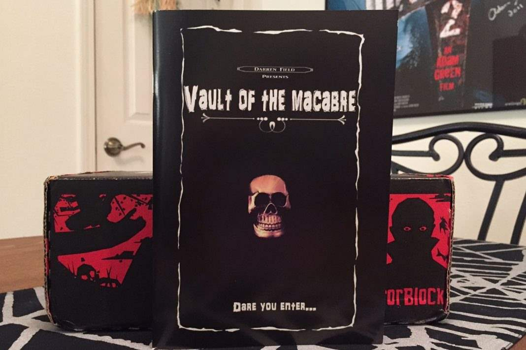 Vault of the Macabre book of poetry in the February 2017 Horror Block