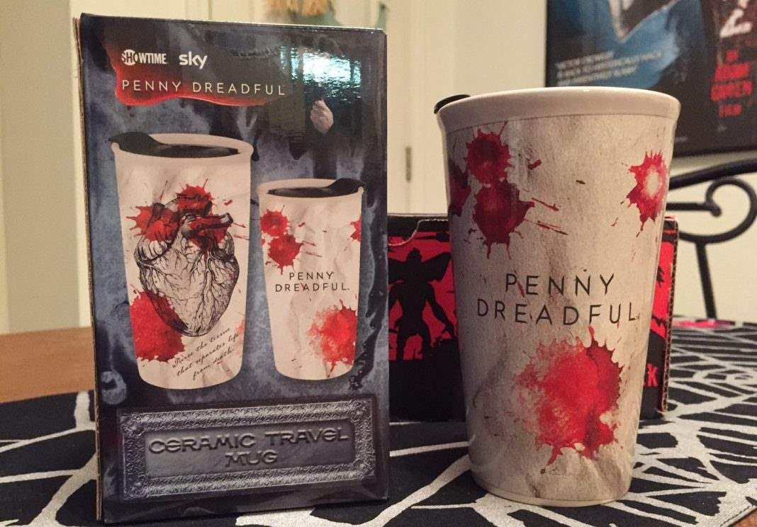 Penny Dreadful ceramic travel mug in the March 2017 Horror Block