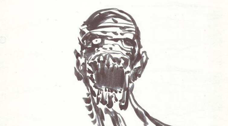 Clive Barker sketch of The Mummy