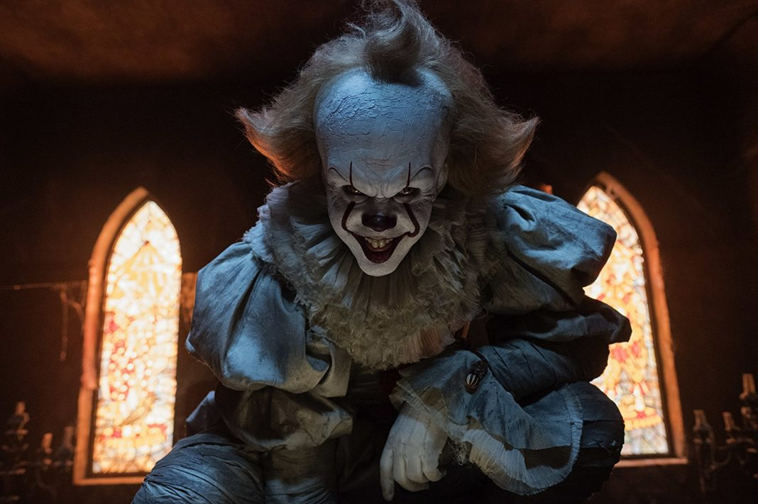 Pennywise in IT crouch