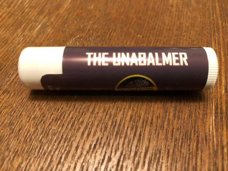 Unabalmer chapstick in the December 2018 Creepy Crate