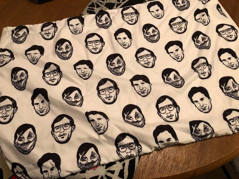 Serial killer pillowcase in the December 2018 Creepy Crate