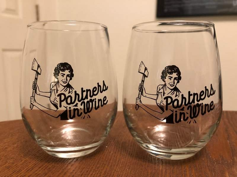 Partners in Wine glasses in February 2019 Creepy Crate