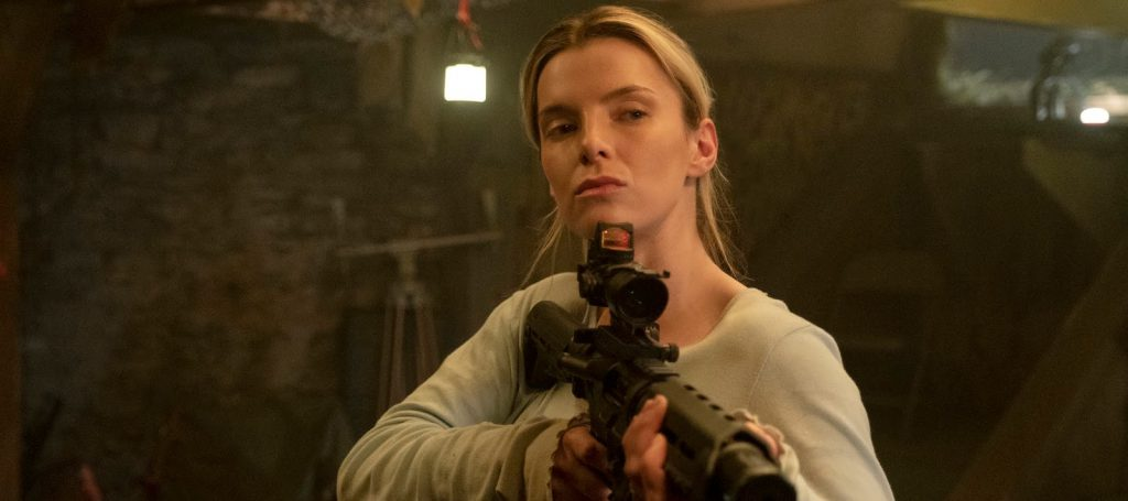 "Betty Gilpin as Crystal in ""The Hunt,"" directed by Craig Zobel."