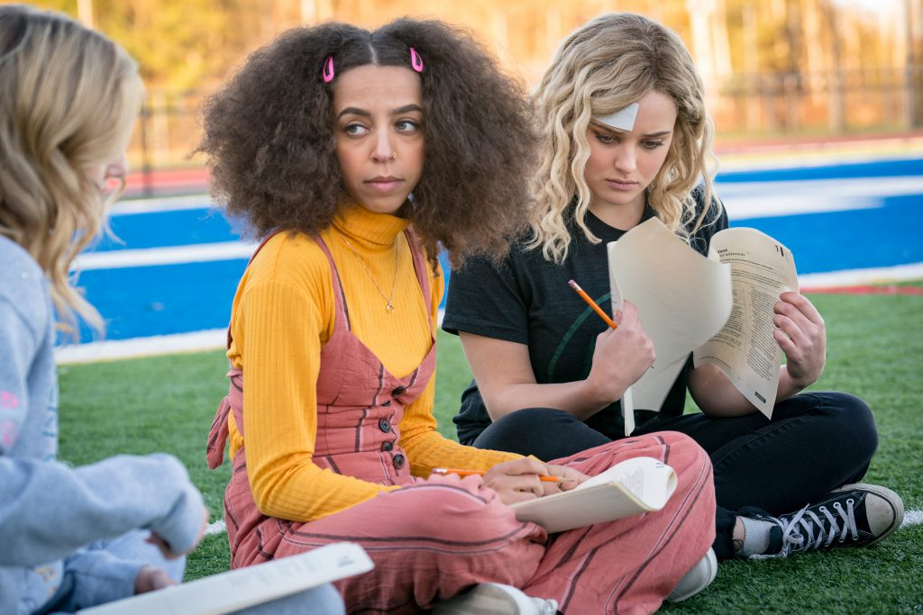 Katherine Langford and Hayley Law in Spontaneous movie