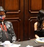 Joe Bob Briggs and Darcy The Mail Girl at Days of the Dead in Atlanta on Feb. 27.
