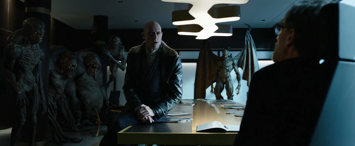Sivana backed up by his demons
